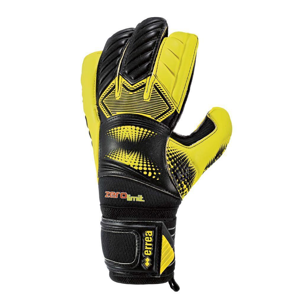 Воротарські рукавички Errea ZERO LIMIT 4 чорний/жовтий (EA2Y1Z02520)