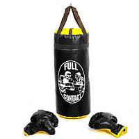 Боксерский набор детский (перчатки+мешок) M PVC UR BO-4675-BK(M)  (реплика)