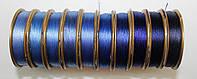 Нить для бисера Лантан (Lantan), микс сине-голубой №2 из 10 цветов