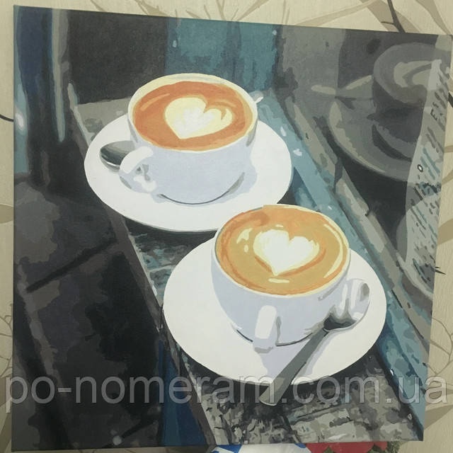 картины акрилом кофе