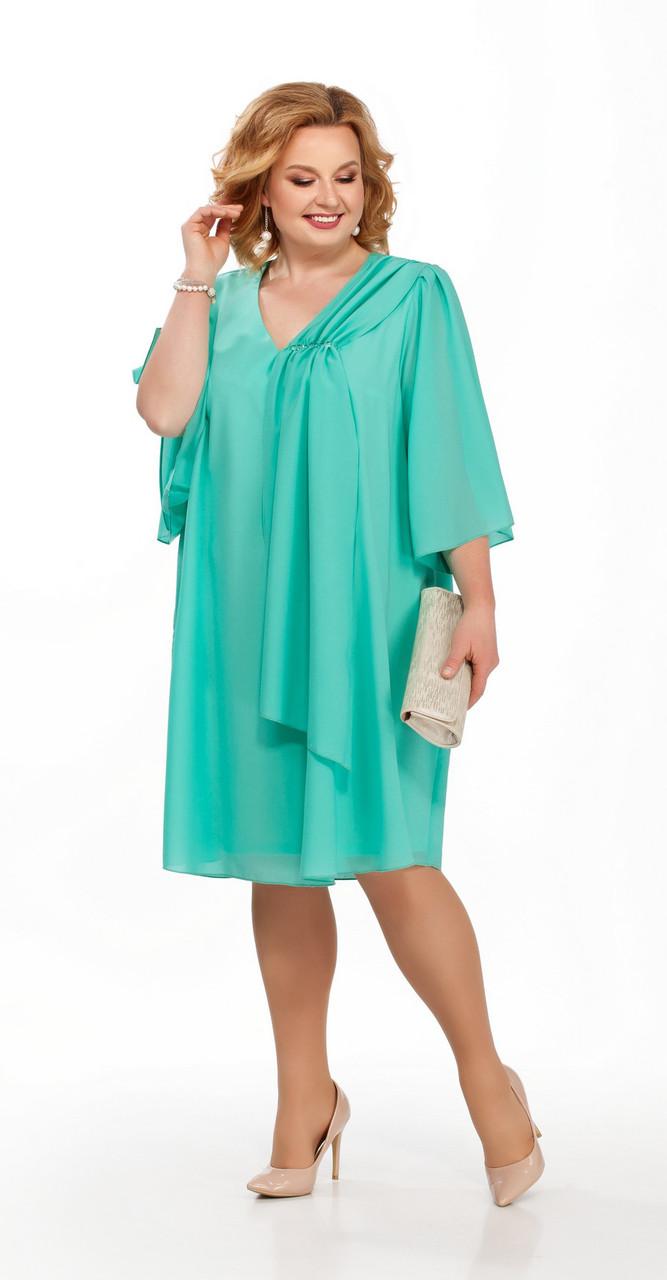 Платье Pretty-805/8 белорусский трикотаж, бирюза, 50