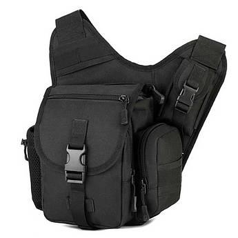 """🔥 Плечевая сумка """"Protector Plus. K304"""" (черная). Тактическая сумка. Для скрытого ношения. EDC"""