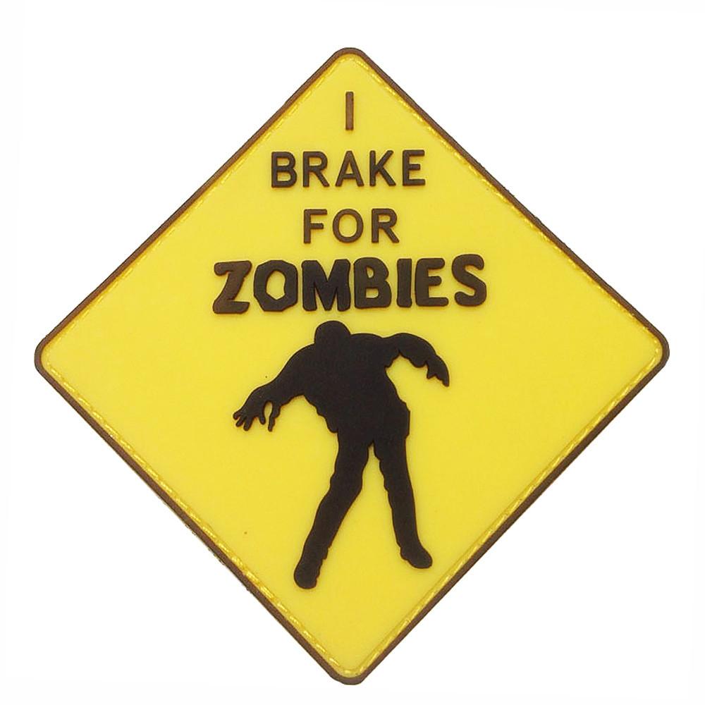 Патч. Zombies (желтый). шеврон. morale patches