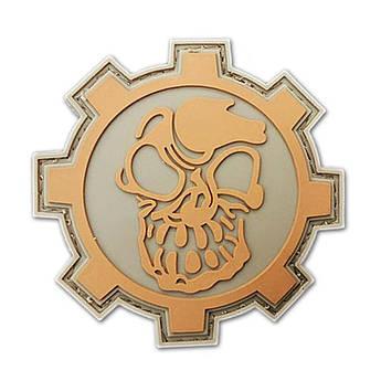 Патч. Terminator PVC (серый). шеврон. morale patches