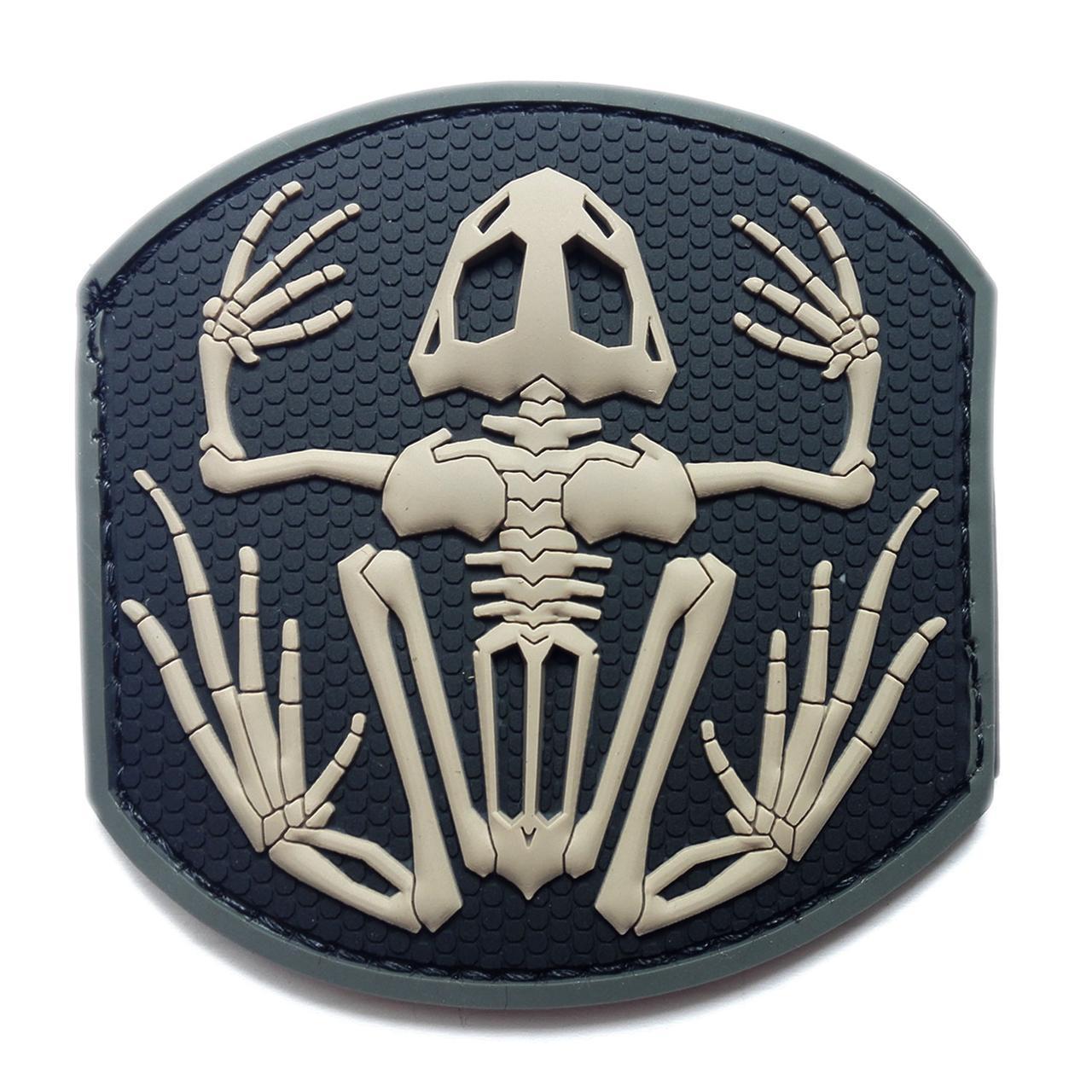 Патч. Frog Skeleton PVC (черный). шеврон. morale patches