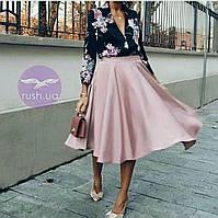 Расклешенная юбка шелковая летняя, фото 1