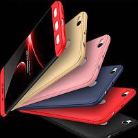 Чехол GKK для Xiaomi Redmi 4X защита 360 градусов + Стекло (9 Цветов)