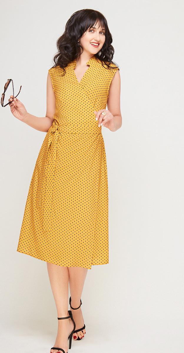 Платье Swallow-180 белорусский трикотаж, горчица, 48