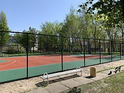 Двухслойное покрытие для спортивной площадки г. Миргород 42