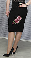Красивая юбка с вышивкой чёрный