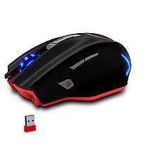☇ Мышь компьютерная Zelotes F-18 3200 DPI с подсветкой 7 цветов Wirelessl + USB Проводная
