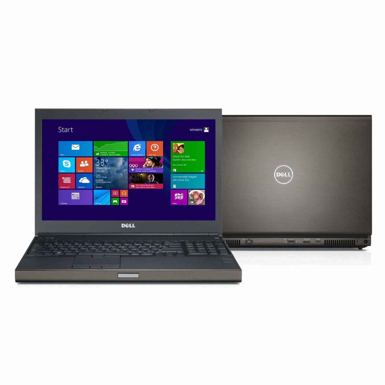 """Б/У Dell Precision M480015.6 """"FHD I7-4810QM 12 Ram SSD 120/500HDD GeForce Quadro K2100m"""