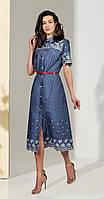 Платье МиА Мода-1038 белорусский трикотаж, синий, 46