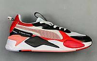 Женские кроссовки Puma RS-X Black/White/Red Реплика, фото 1