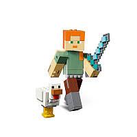 Конструктор LEGO MINECRAFT Алекс с цыпленком серии ЛЕГО Майнкрафт™
