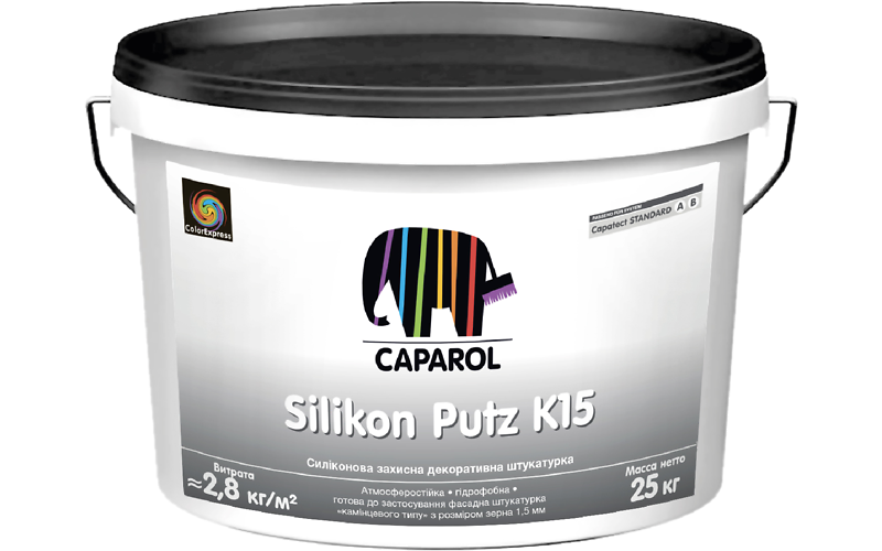 Capatect Silikon Putz K, R силиконовая декоративная штукатурка для наружных и внутренних работ.
