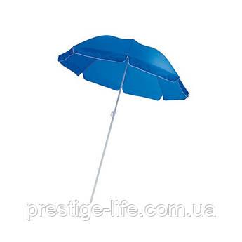Зонт диаметром 2,4 м. Пластиковые спицы. Серебренное покрытие. Синий