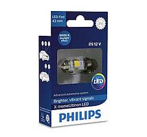 Автолампи LED Philips X-tremeVision C5W (43мм) 6000K 12V 129466000KX1 (1 шт.)
