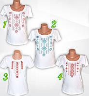 Женская футболка-вышиванка. Вышиванка женская летняя. Трикотажная женская вышиванка