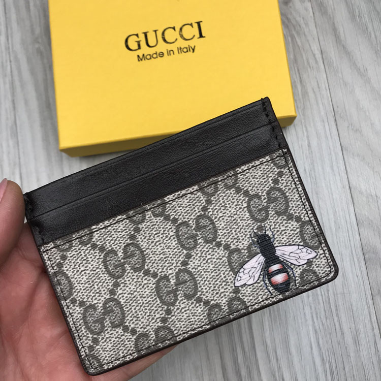 Хайповая візитниця Gucci коричнева чоловіча Туреччина кардхолдер Молодіжна Модний Гуччі копія