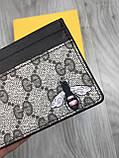 Хайповая візитниця Gucci коричнева чоловіча Туреччина кардхолдер Молодіжна Модний Гуччі копія, фото 2