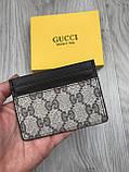 Хайповая візитниця Gucci коричнева чоловіча Туреччина кардхолдер Молодіжна Модний Гуччі копія, фото 4