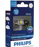 Автолампи LED Philips X-tremeVision C5W (38мм) 4000K 12V 128584000KX1(1 шт.)