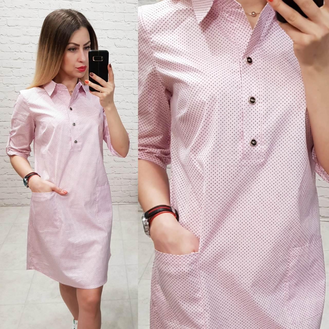Платье-рубашка, модель 831, в 12-ти расцветках
