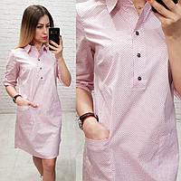 Платье-рубашка, модель 831, в 12-ти расцветках, фото 1