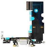 Шлейф iPhone 8, с разъёмом зарядки и микрофоном, белый