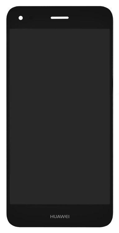 Дисплей Huawei Nova Lite (2017), P9 Lite mini, Y6 Pro (2017)SLA-L02, + сенсор чёрный + рамка
