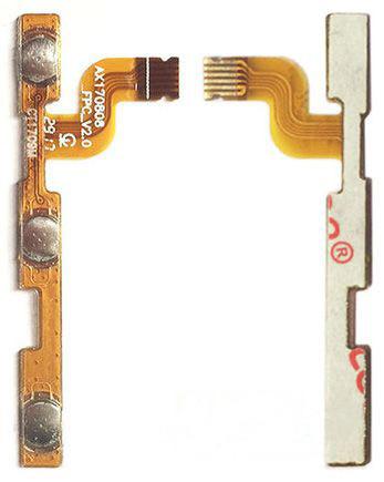 Шлейф Xiaomi Redmi Note 5A с кнопкой включения, с кнопками регулировки громкости