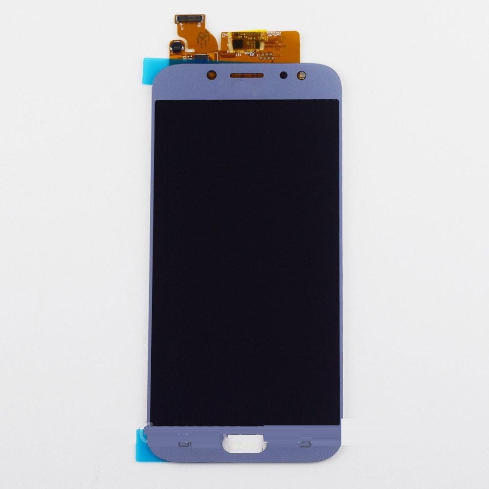 Дисплей Samsung J730 Galaxy J7 2017 TFT регулируемая подсветка + сенсор голубой