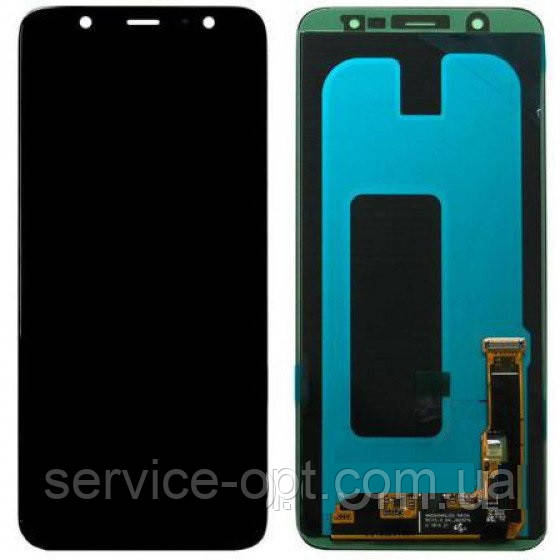 Дисплей Samsung GH97-21878A A605 Galaxy A6 + (2018) + сенсор чёрный сервисный
