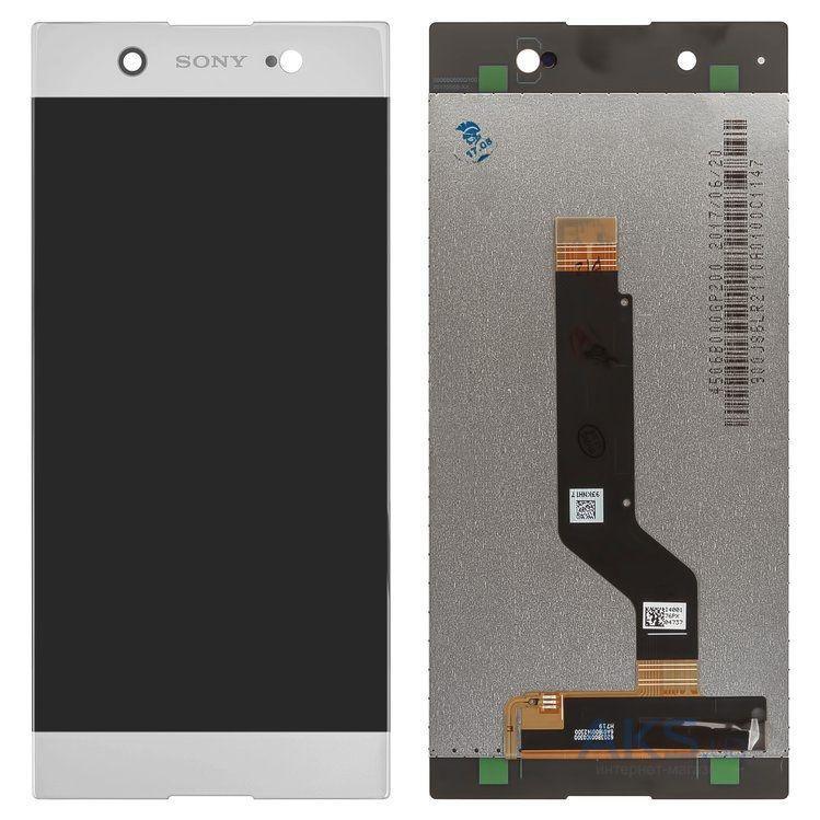 Дисплей Sony G3212 Xperia XA1 Ultra Dual, G3221, G3223, G3226 + сенсор белый