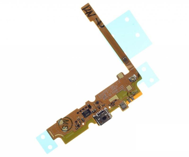 Шлейф LG D325 Optimus L70, с разъемом зарядки, с микрофоном