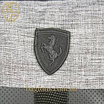 Мужская стильная сумка барсетка через плечо черная с серым  Ferrari Puma., фото 4