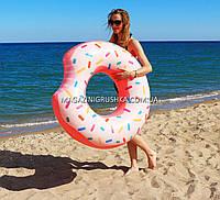 Надувной круг Intex Пончик (Donut) 56265NP. Отлично подходит для отдыха на море, в бассейне