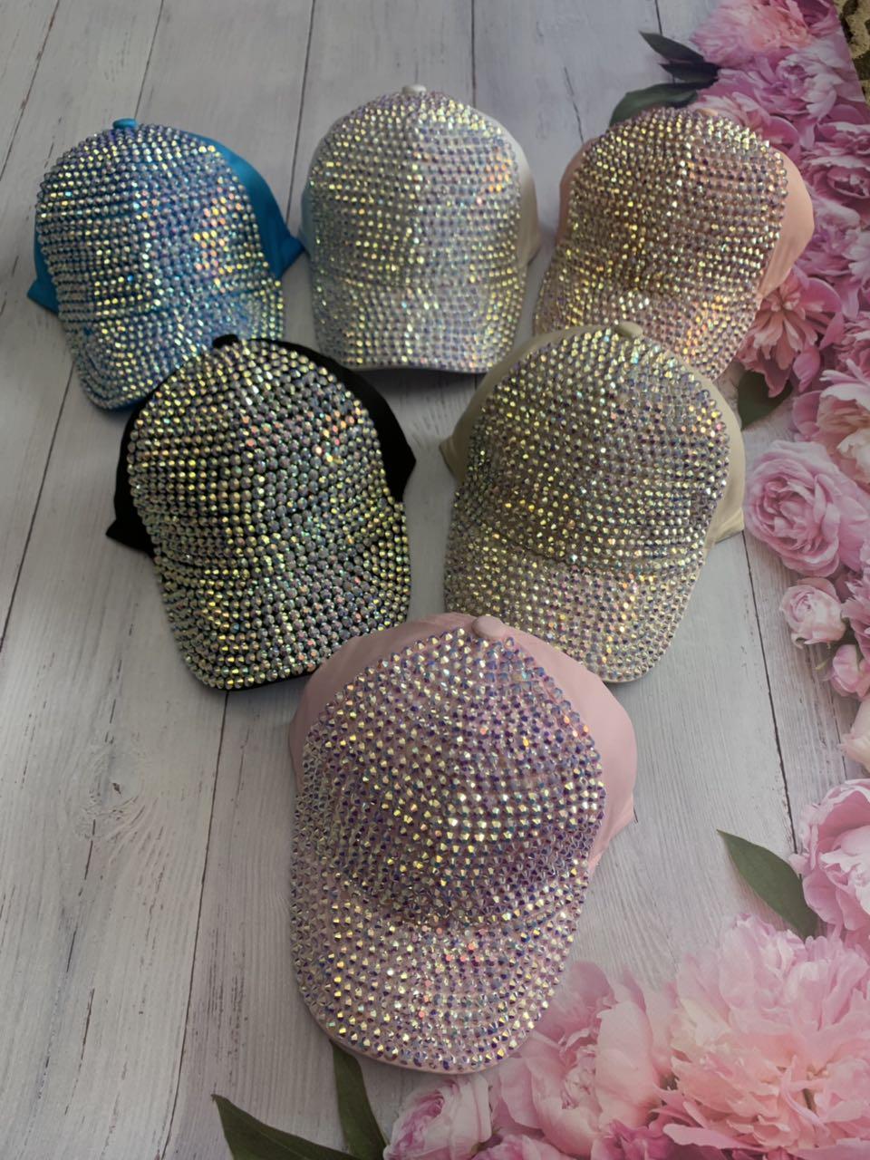 Летняя кепка для девочки в камнях р.52