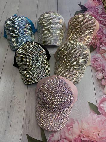 Летняя кепка для девочки в камнях р.52, фото 2