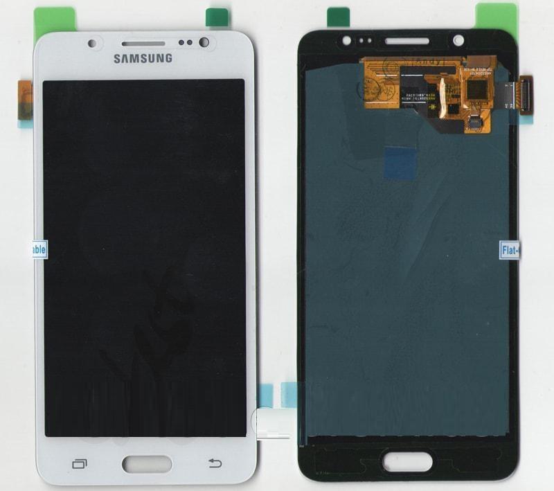 Дисплей Samsung J510F, J510H Galaxy J5 2016 TFT регулируемая подсветка + сенсор белый