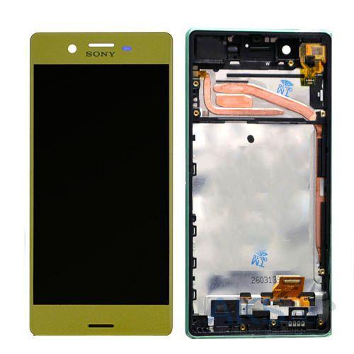 Дисплей Sony F5121 Xperia X, F5122, F8131, F8132 + сенсор золотой+ рамка