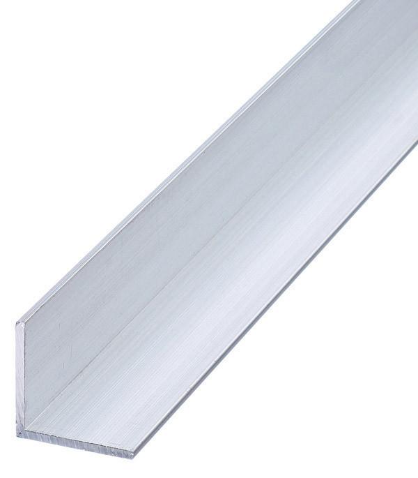Уголок алюминиевый Braz Line 20х10х2.0 мм без покрытия 1 м BLS-9207-00-0000.10 (уп - 10 шт)