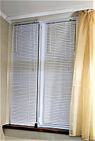 Жалюзи пластиковые горизонтальные белые ПВХ на окна
