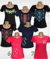 Вышиванка женская летняя. Женская футболка-вышиванка. Трикотажная женская вышиванка