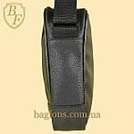 Мужская стильная сумка барсетка через плечо черная эко-кожа Ferrari Puma черный., фото 3