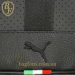 Мужская стильная сумка барсетка через плечо черная эко-кожа Ferrari Puma черный., фото 5