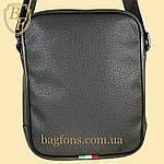 Мужская стильная сумка барсетка через плечо черная эко-кожа Ferrari Puma черный., фото 6