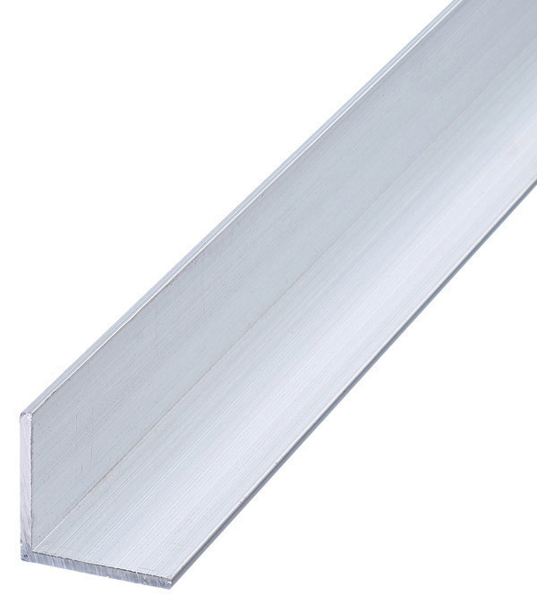 Куточок алюмінієвий Braz Line 25х15х1.5 мм анод срібло 1 м BLS-9216-10-0106.10 (уп - 10 шт)