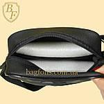 Мужская стильная сумка барсетка через плечо черная эко-кожа Ferrari Puma черный., фото 8